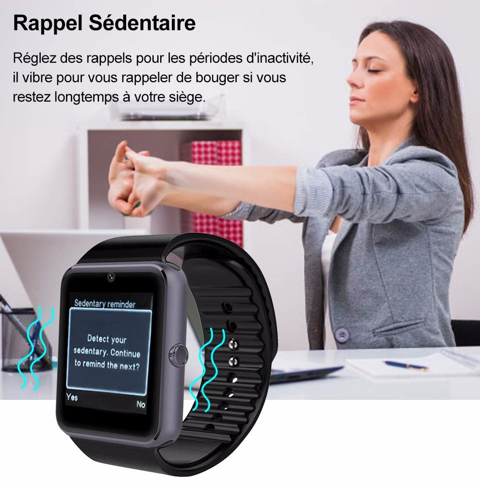 Rappel sédentarité Smartwatch